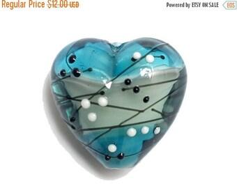 ON SALE 40% OFF Handmade Glass Lampwork Bead - 11835205 Windjammer Party Heart
