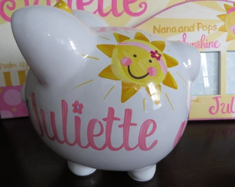 personalized piggy bank you are my sunshine animals