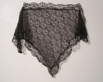Lace Scarf,  Lace Mantilla, Lace Shawl, Tulle Scarf
