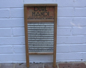 Antique Vintage Washboard Vintage Columbus Washboard Co Vintage Dubl Handi Washboard