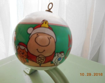 1982 Ziggy Christmas Ornament American Greetings Satin Ball Ornament