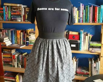 Book Skirt with Pockets - Size Medium