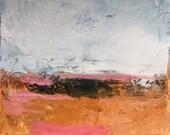 Three mini landscapes ,original oil painting on paper