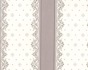 Lily Will Revisited Ivory Gray Stripe fabric | Moda 2805 23 | Cotton Quilting fabric