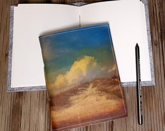 roll with it journal - folly clouds beach dune journal for gift giving beach lover by tremundo
