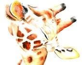 Giraffe #4 Art Print Wate...