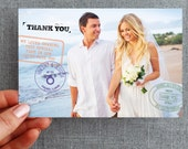 Digital File, Passport Thank You Postcards