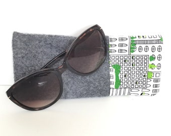 Cute Sunglass Case, Cute Eyeglasses Case, Felt Glasses Case, Glasses Holder, Sunglasses Case, Gifts for her, gifts for teens, gifts under 20