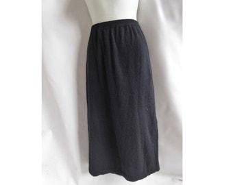 Angora Sweater Skirt Size 1+ Black Pencil Womens Outlander Lambswool 90s