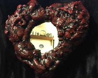 Bleeding Heart hanging mirror