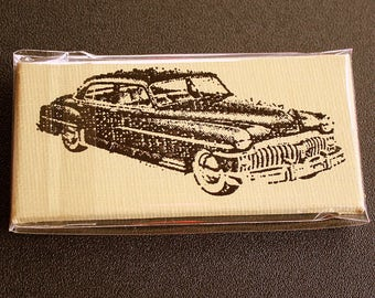 Vintage Car Mini Canvas Magnet - Two by Three Inch