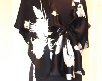 Black and White Convertible Poncho Designer Original Holiday Fashion Gift for Her