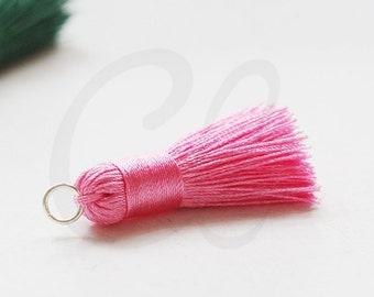 One Piece of Hand Made Thread Tassels - 35mm - Pink (E33)