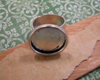 Adjustable Antique Silver Ring Base from Nunn Design