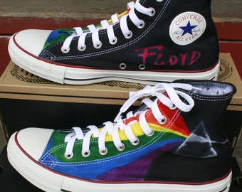 Adult sz 7-13 MADE to ORDER ... Tie-Dye Converse Hi Top Sneakers