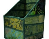 Pencil and Tool Organizer in Green Batik