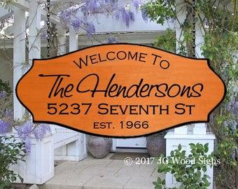 Family Name Sign Xl - Personalized Cottage Sign - w Xl sign holder Option - CEDAR Camper Sign JG Wood Signs Etsy JG Wood Signs Henderson
