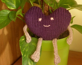 HEART KNITTING PATTERN Toy Plush Amigurumi Valentine Heart - Amore - quick & easy  - a great Valentines Day Gift
