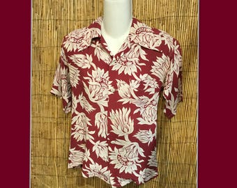 Vintage 1940s Hawaiian Blouse