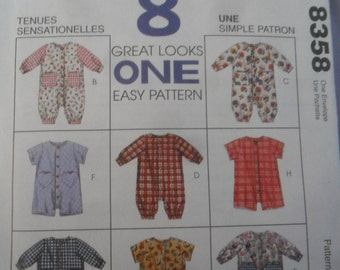 McCall's #8358 Pattern 8 Great Looks 1 Easy Pattern for Jumpsuit or Romper