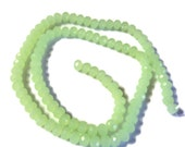"Opaque Spring Green Crystal Faceted Rondelle Beads, 6mm, 17"" Strand,  Jewelry Supplies, Light Green Beads"