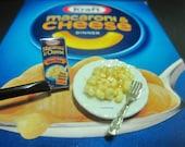 Dollhouse Miniature Mac and Cheese