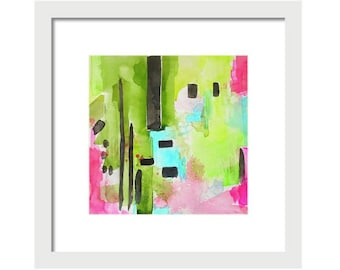 Green Watercolor Abstract Art Print-Abstract Wall Art-Home Decor-Contemporary Art-Fine Art-Giclee-Coastal Decor-Abstract Painting-