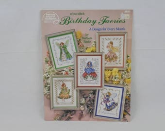 Birthday Faeries counted cross stitch pattern book