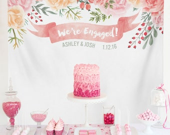 Bridal Shower Banner Decorations, Engagement Decoration, Engagement Party Decorations, Engagement Party Banner / W-G19-TP MAR1 AA3