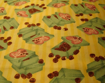 I LOVE LUCY Fabric, Chocolate factory, Chocolate Boxes, Rare And Out Of Print Quilting Treasures