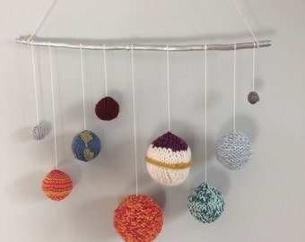 Solar System Knitted Mobile