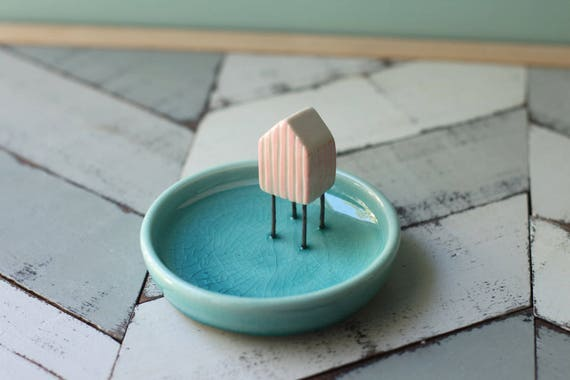 beach cottage ring dish