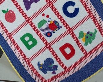 Baby Quilt ABC Nursery Bedding Baby Blanket Handmade Quilt