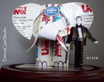 Elephant Business Card Sculpture Ringmaster Trainer Design 1478