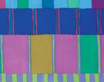 "Kaffe Fassett PWKF003 Layered Stripe Artisian Shirt Stripes Style Blue Quilting 18"" BTHY Rowan Westminster Half Yard 18"" Quilt Fabric"
