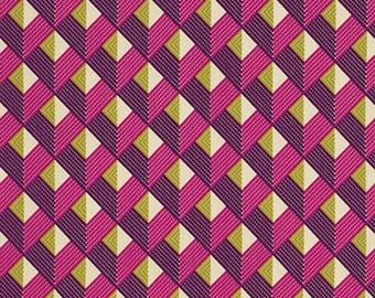"Joel Dewberry PWJD074 Bungalow Chevron Lavender Eclectic Modern Mod Free Spirit Designer Quilting 18"" BTHY Half Yard Quilt Fabric HY"