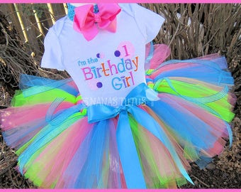 1yrs, Ready to Ship, 1st  Birthday, Im The Birthday Girl, Party Outfit, Tutu Set,