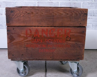 Industrial Factory Cart Storage Danger Detroit Gun Powder