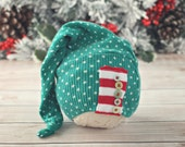 0 to 6 month stocking hat // Christmas hat // holiday photo prop // baby photography // baby hat // ready to ship // long hat tail
