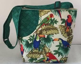Parrot Bag with Adjustable Strap