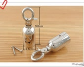 28mm ( 1 3/16 inch ) Nickel Barrier  Rope hook Barrier  Rope Fittings  cord end hook Rope end hook end stopper 2 piece  AC107