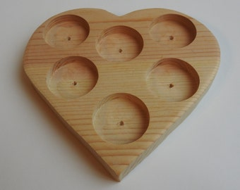 Lip Butter Pot Tub Heart Shaped Wooden Display