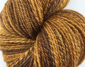 "Handspun Yarn Lace ""Caramel"" SW Merino Silk 400 yds."