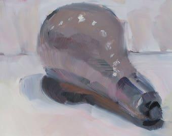 Light Bulb.... an oritinal oil painting by South Carolina artist Linda Hunt...WET...WET...WET
