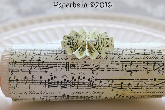 Fill Your Own Party Wedding Crackers Sheet Music Antiqued Ornate  Party Popper Wedding Personalize with Your Monogram and a Paper Rosette