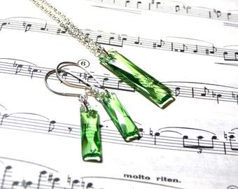 Peridot Swarovski Crystal Jewelry Set Crystal Jewelry for Women Popular Jewelry Top Selling Jewelry Jewelry Sets Crystal Jewelry