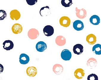 Mod Circle Fabric by the Yard  - Heckler (Sailboat) By Pennycandy - Modern Nursery Decor Cotton Fabric By The Yard With Spoonflower