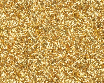 Faux Gold Glitter Fabric - Gold Glitter By Willowlanetextiles - Faux Glitter Party Cotton Fabric By The Yard With Spoonflower