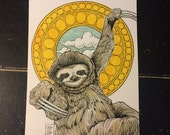 Art Nouveau Sloth-Daily Sketch 01052017