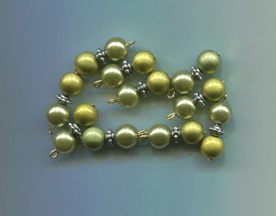 pearl bead drop charms green miracle beads acrylic glass bead pendants 10pc #supply723
